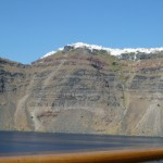 Santorini from the sea - Cruise and Tour Planners