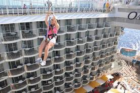 Ziplining on the Royal Carribbean Cruise Ship - Cruise and Tour Planner